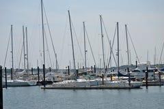 小船在港口 图库摄影