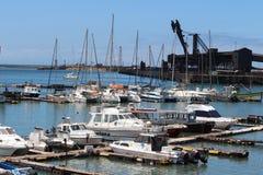 小船在港口 库存照片