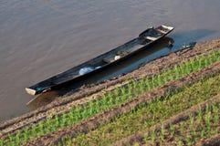 小船在湄公河 免版税库存照片