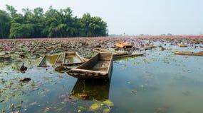 小船在湖印度 免版税库存照片