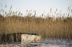 小船在湖 免版税库存图片