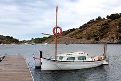 小船在盐水湖 库存照片