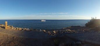 小船在红海埃及 免版税库存图片