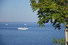 小船在红海 免版税图库摄影