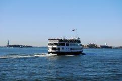 小船在纽约 免版税库存照片