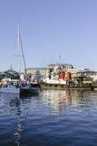 小船在维多利亚阿尔弗莱德江边 库存图片