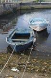 小船在蓬特韦德拉西班牙 免版税图库摄影