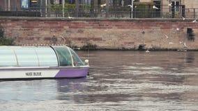 小船在运河史特拉斯堡市,旅行法国 影视素材
