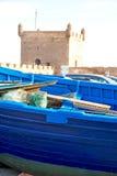 小船在非洲抽象的摩洛哥老和 免版税库存照片