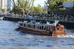 小船在晴天 免版税图库摄影