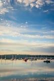 小船在Boothbay港口 免版税库存图片