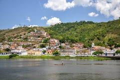 小船在Cachoeira (巴西) 免版税图库摄影