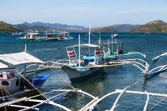 小船在Coron,菲律宾 免版税库存图片