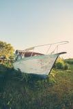 小船在Gaspésie 免版税库存图片