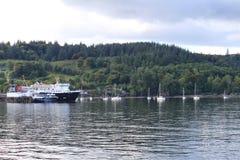 小船在Mallaig的,苏格兰港口 图库摄影