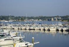 小船在Niantic河在康涅狄格 库存图片