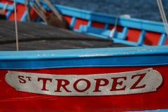小船在St Tropez 免版税图库摄影