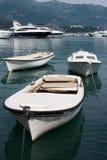 小船地中海montenegro 免版税图库摄影