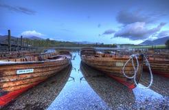 小船地区湖 图库摄影