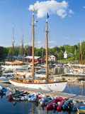 小船坎登港口缅因 免版税图库摄影