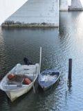 小船坐一条河在墨西哥 免版税图库摄影