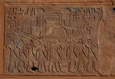小船埃及人葬礼 免版税库存图片