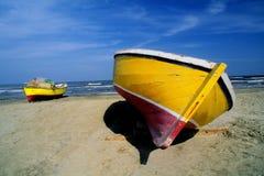 小船埃及捕鱼 免版税库存照片