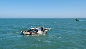 小船埃及捕鱼 库存照片