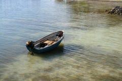 小船孤立小 库存照片