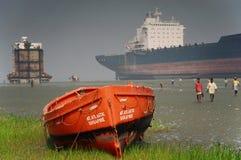 小船安全性 库存照片