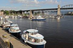 小船小河错误港口巡逻温哥华 库存照片