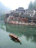 小船小镇 图库摄影