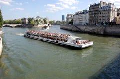 小船巴黎浏览 库存照片