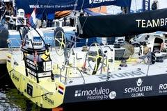 小船布鲁内尔在开普敦 阿布扎比海洋赛跑 免版税库存图片