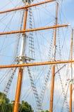 小船帆柱 图库摄影
