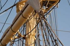 小船帆柱 免版税库存照片