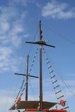 小船帆柱 免版税库存图片