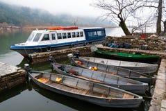 小船希腊 图库摄影