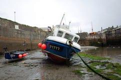 小船康沃尔捕鱼 免版税库存照片