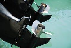 小船引擎 免版税库存图片