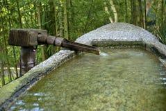 小船形状的水水池 库存照片