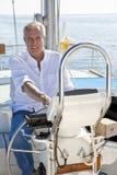 小船愉快的人风帆前辈轮子 免版税图库摄影