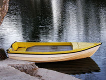 小船我的黄色 免版税图库摄影