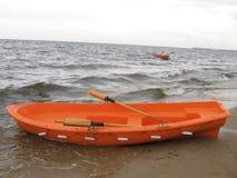小船抢救 库存图片
