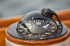 小船指南针 免版税图库摄影