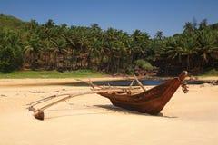 小船捕鱼做的现有量印地安人 库存照片