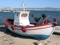 小船捕鱼希腊 库存图片