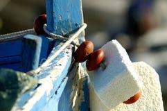 小船捕鱼法语 免版税库存照片