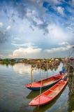 小船捕鱼泰国 免版税库存照片