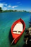 小船捕鱼红色 免版税图库摄影